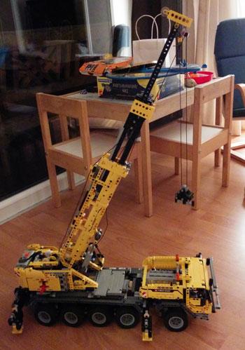 Lego Technic 42009 Schwerlastkran nach dem zusammenbau